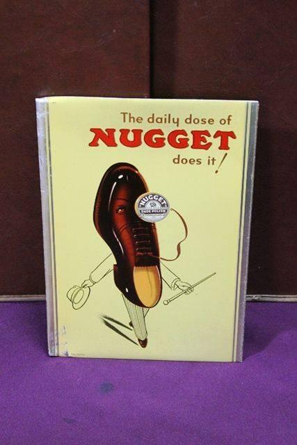 Nugget Shoe Polish Tin Advertising Card