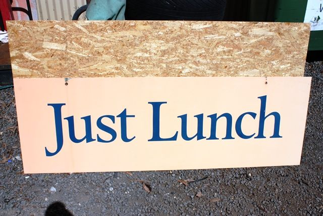 Just Lunch Large tin Advertising Sign