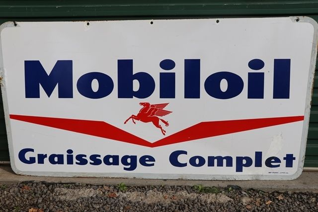Mobiloil Graissage Complet Double Side Sign