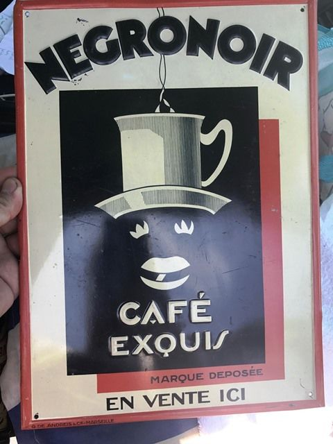 ARRIVING NOVEMBER Negronoir Cafe Exouis Advertising Sign