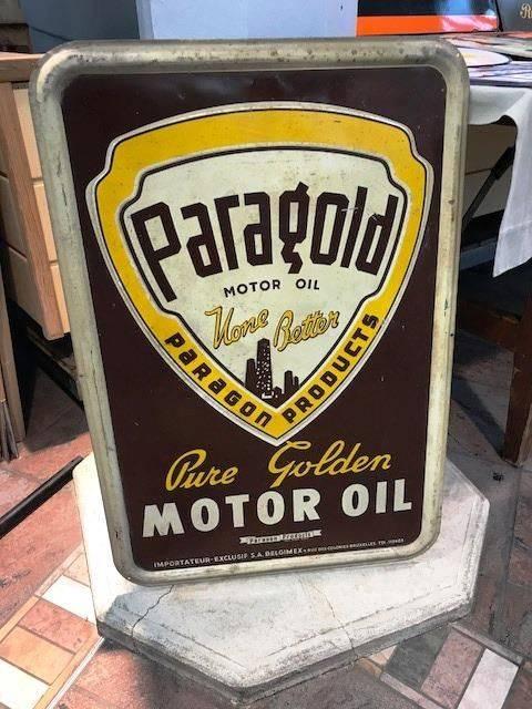 ARRIVING NOVEMBER Paragold Motor Oil Advertising Sign