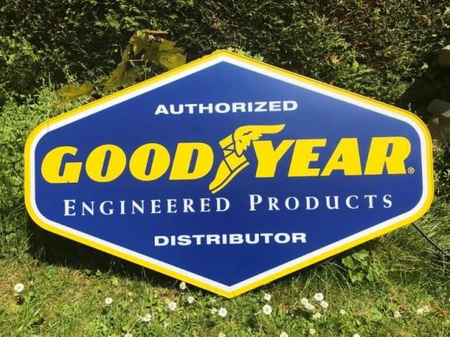 ARRIVING NOVEMBER Goodyear Advertising Sign