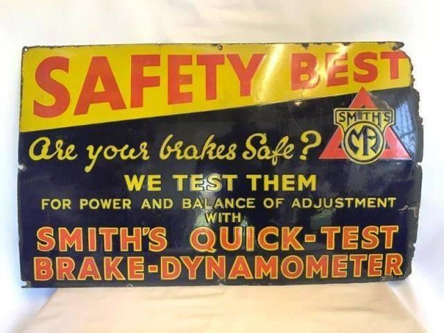 ARRIVING NOVEMBERSmithand39s Quick Test Enamel Advertising Sign