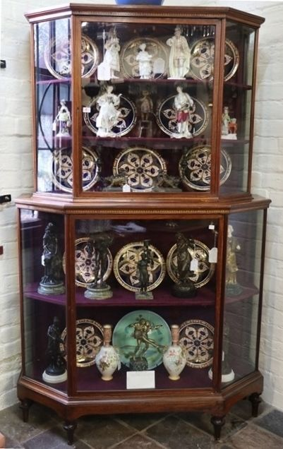 Late 19th Century Inlaid Shop Display Cabinet C1895