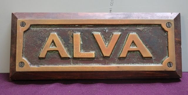 Genuine House Name Plate andquotALVAandquot