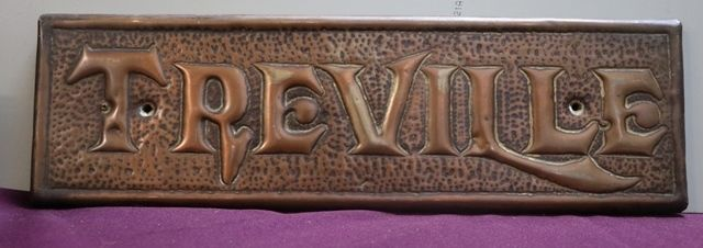 Genuine House Name Plate andquotTREVILLEandquot