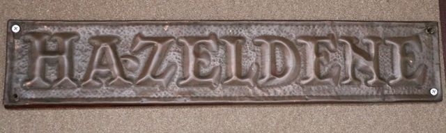Genuine House Name Plate andquotHAZELDENEandquot