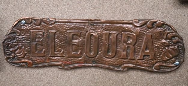 Genuine House Name Plate andquotELEOURAandquot
