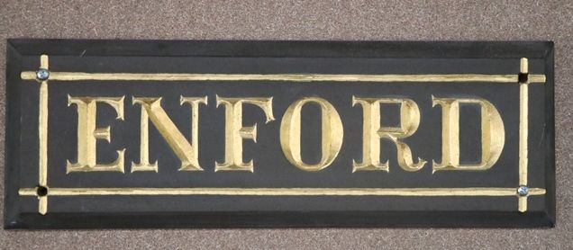 Genuine House Name Plate andquotENFORDandquot
