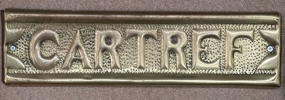Genuine House Name Plate andquotCARTREFandquot