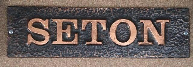 Genuine House Name Plate andquotSETONandquot