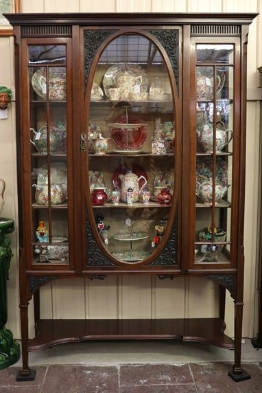 Late Victorian Mahogany Display Cabinet English C1900