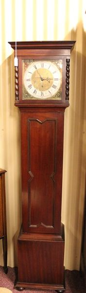 Mid 20th Century Mahogany Grandmother Clock