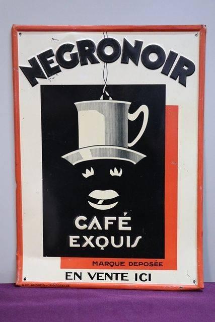 Negronoir Cafe Tin Advertising Sign