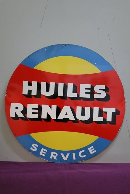 Huiles Renault Tin Advertising Sign