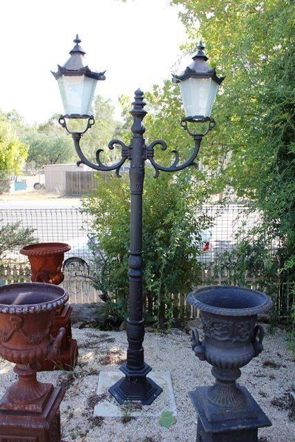 Cast Iron 2 Branch Garden Lamp