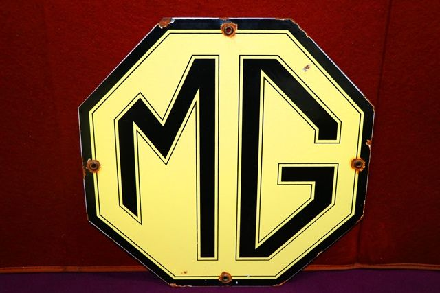 MG Octagon Enamel Advertising Sign