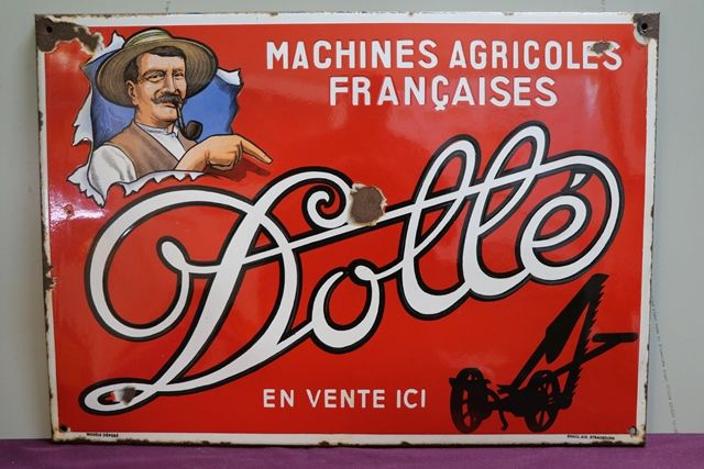 Dolle Machines Agricoles Franaises Enamel Advertising Sign