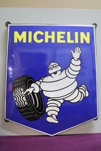Michelin Enamel Advertising Sign