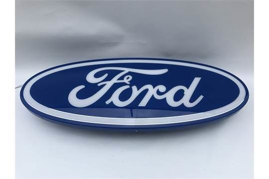 Ford Dealers Oval Light Box