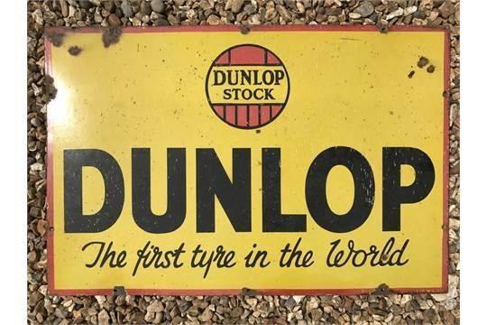 DUNLOP Stock Enamel Tyre Sign