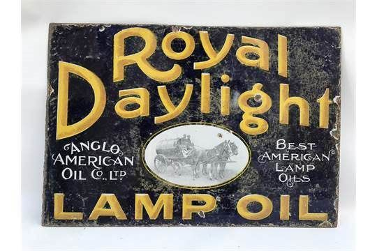 Antique Royal Daylight Double Sided Enamel Sign