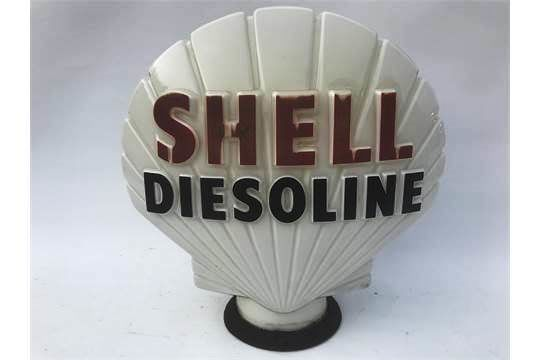 Shell Diesoline Glass Petrol Pump Globe