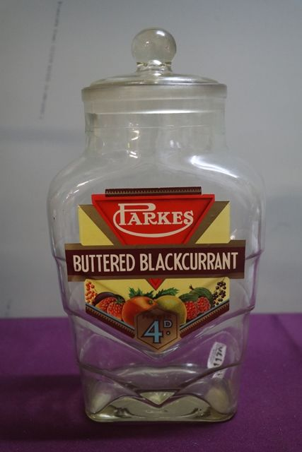 A Parkes Buttered Blackcurrant Sweetie Jar With Good Label