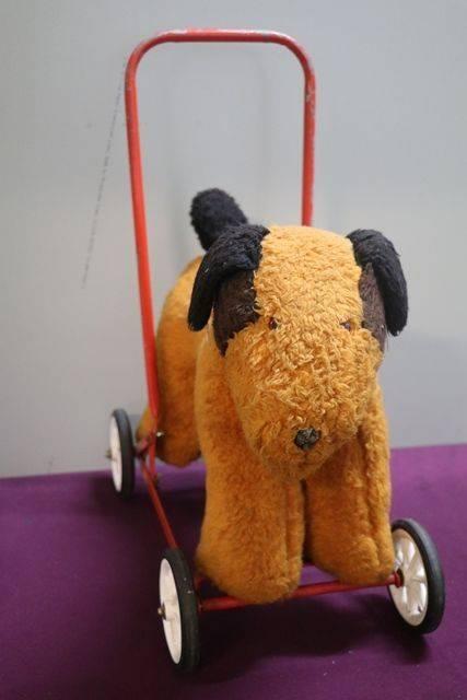 A PushAlong Soft Toy Dog On Wheels
