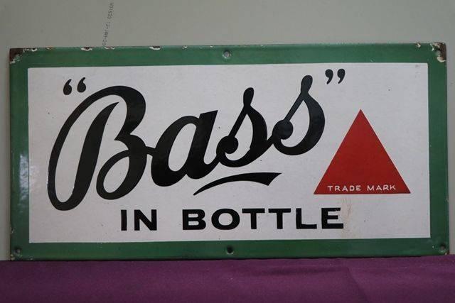 Bass Enamel Advertising Sign