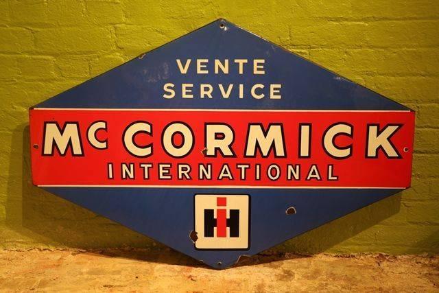 Classic Large McCormick Lozenges Shape Enamel Service Sign