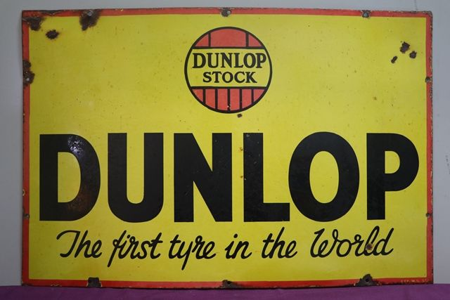 Dunlop Tyre Advertising Enamel Sign