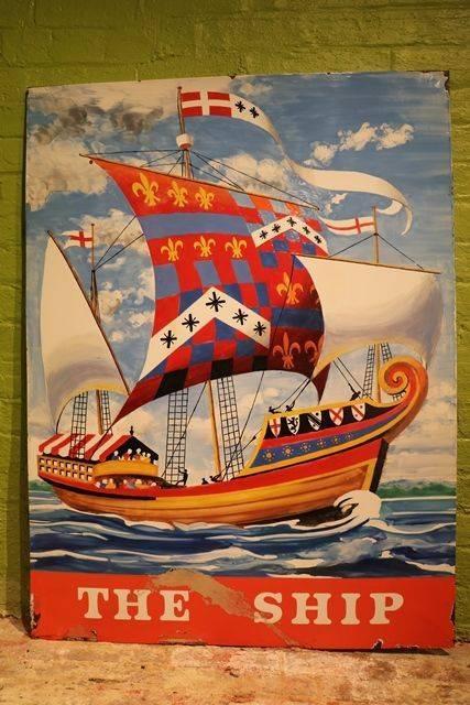 The Ship Enamel Sign