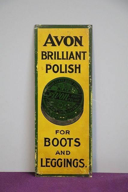 Avon Brilliant Polish Tin Sign