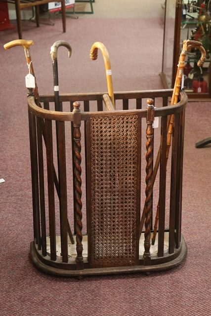 Early C20th Barley Twist Stick Stand