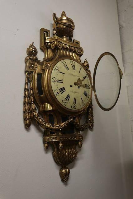 Swedish Gustavian Louis XVI Style Gilt Wood Late 19th Century