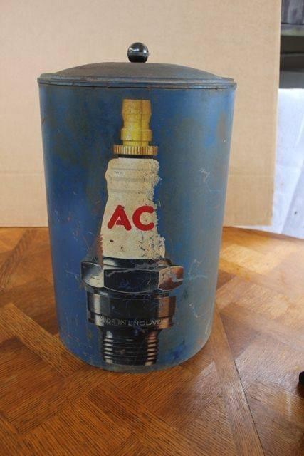 Rare Vintage AC Spark Plug Dispensing Cabinet
