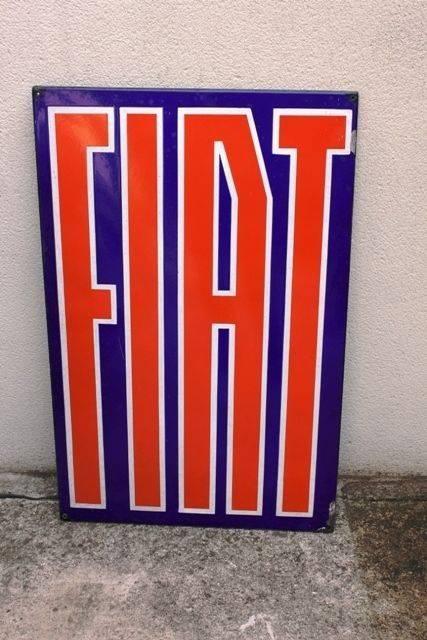 Early Fiat Enamel Advertising Sign