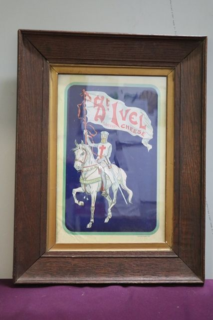St Ivel Lactic Cheese Framed Advertising Card