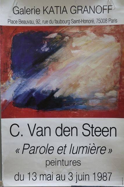 French Art Poster C Van Den Steen  Paris 1987