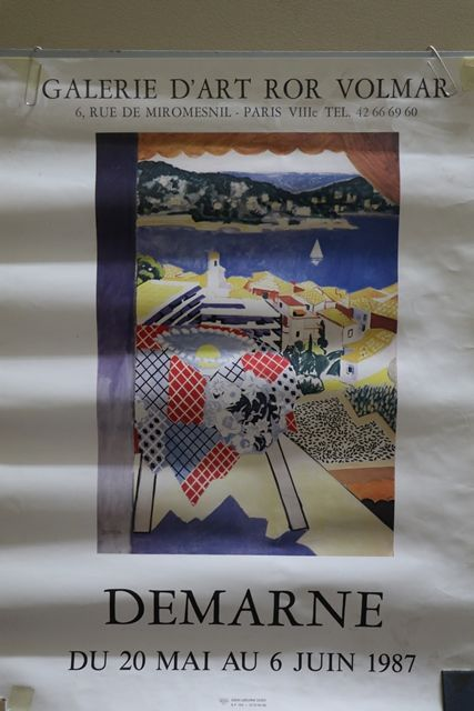French Art Poster Demarne  Paris 1987