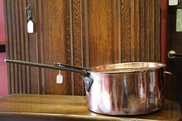 Victorian Copper Saucepan + Lid