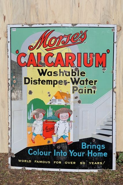 Morseand39s Calcarium Enamel Pictural Advertising Sign