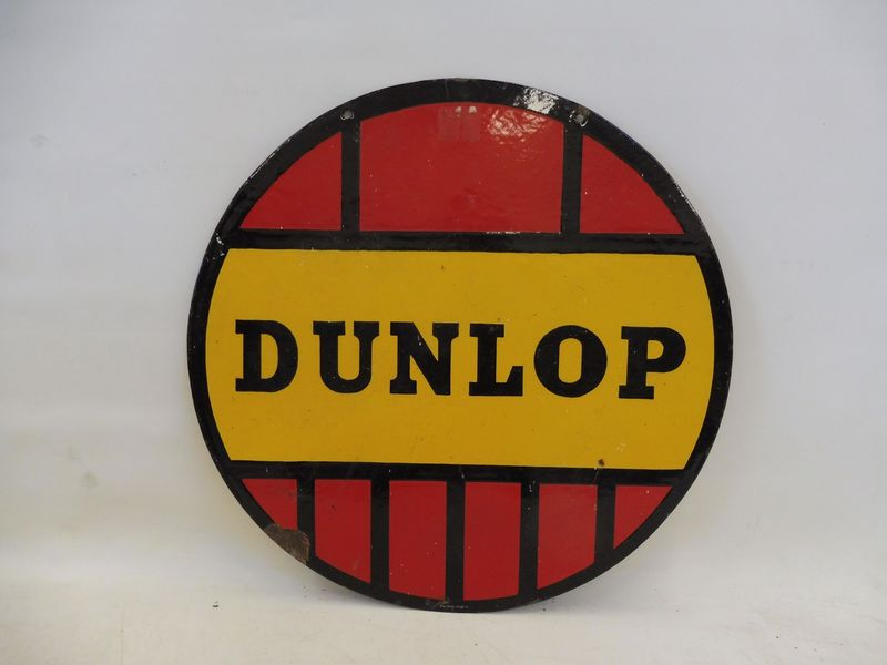 2019 Dunlop Tyres Double Sided Enamel Sign