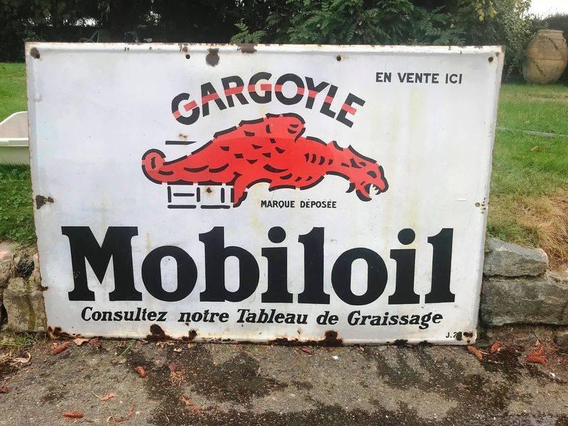 2019 Mobiloil Gargoyle Enamel Sign