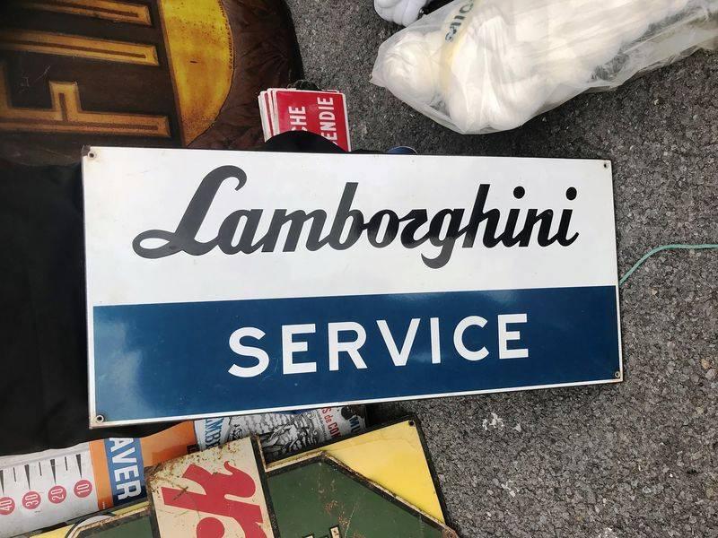 2019 Lamborghini Enamel Advertising Sign