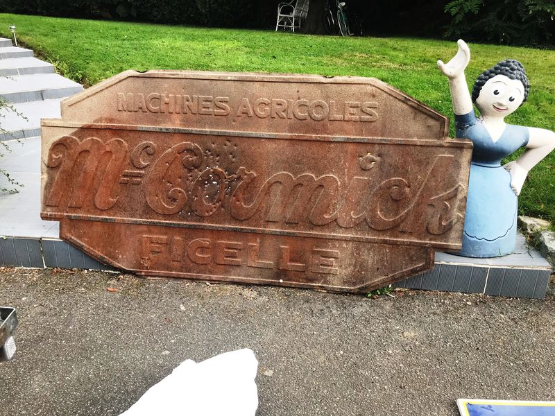 2019 Large McCormick Embossed Tin Sign