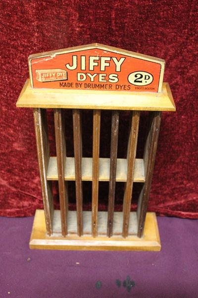 Jiffy Dyes Advertising Stand