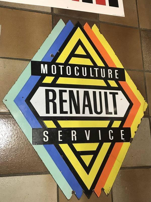 2019 Renault Motoculture Service Enamel Sign