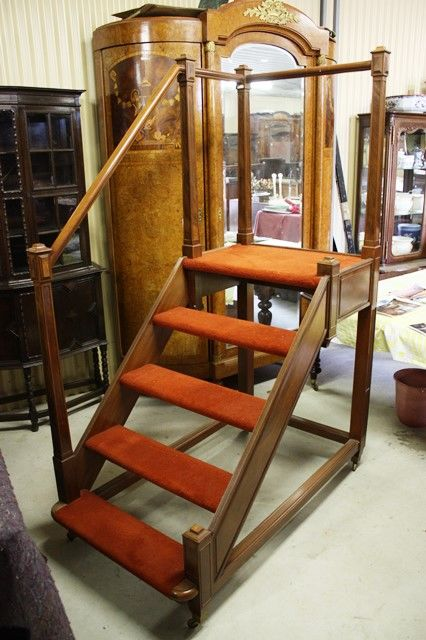 Mahogany Library Steps